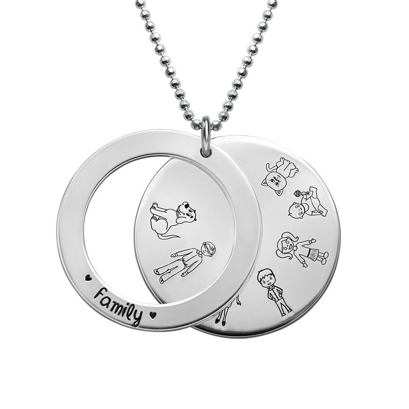 Familien Halskette aus Sterling Silber - 1