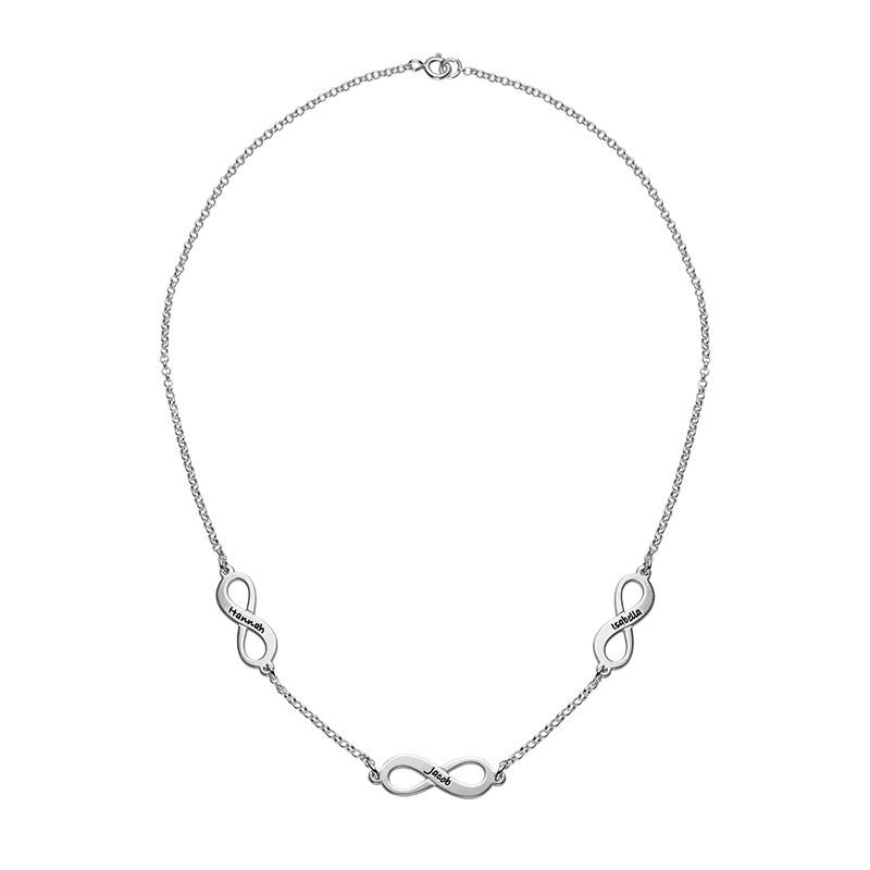 Mehrfach-Infinity-Halskette für Mutter in Silber - 1
