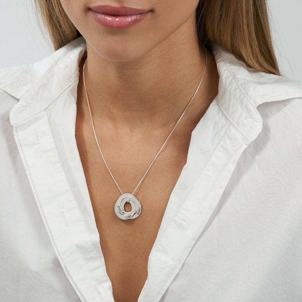 Russische Ring Halskette mit Gravur - 2