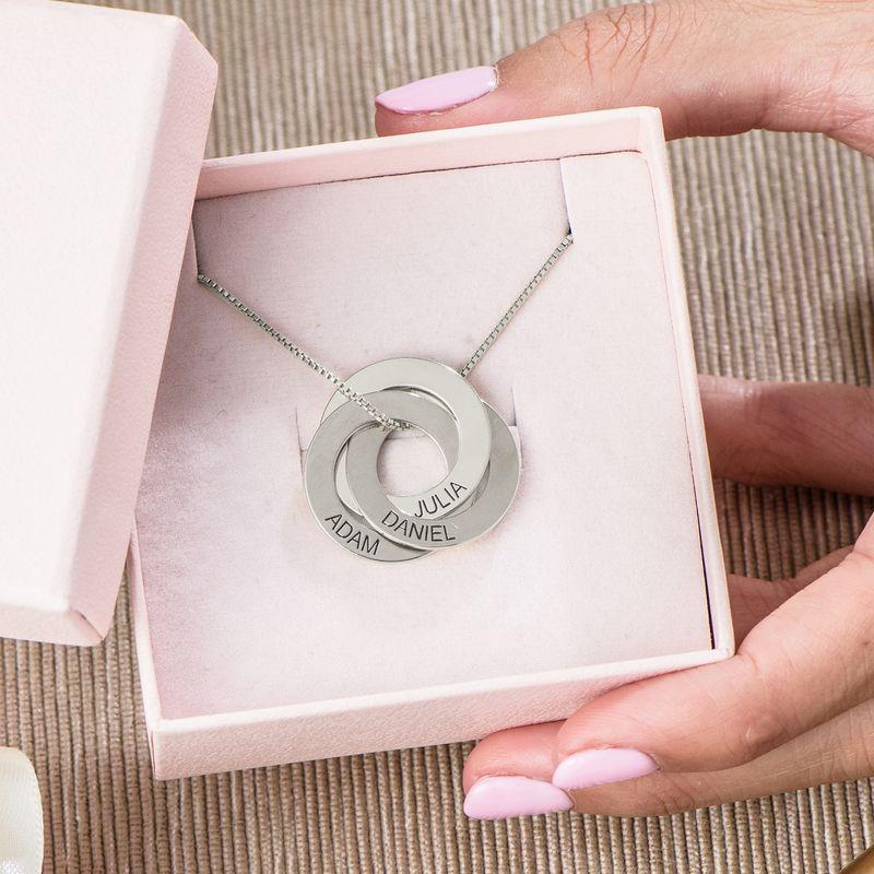 Russische Ring Halskette mit Gravur - 5