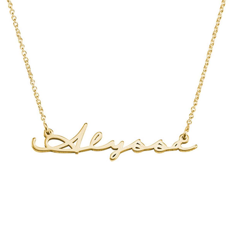 Namenskette im Signature-Stil aus Gold-Vermeil