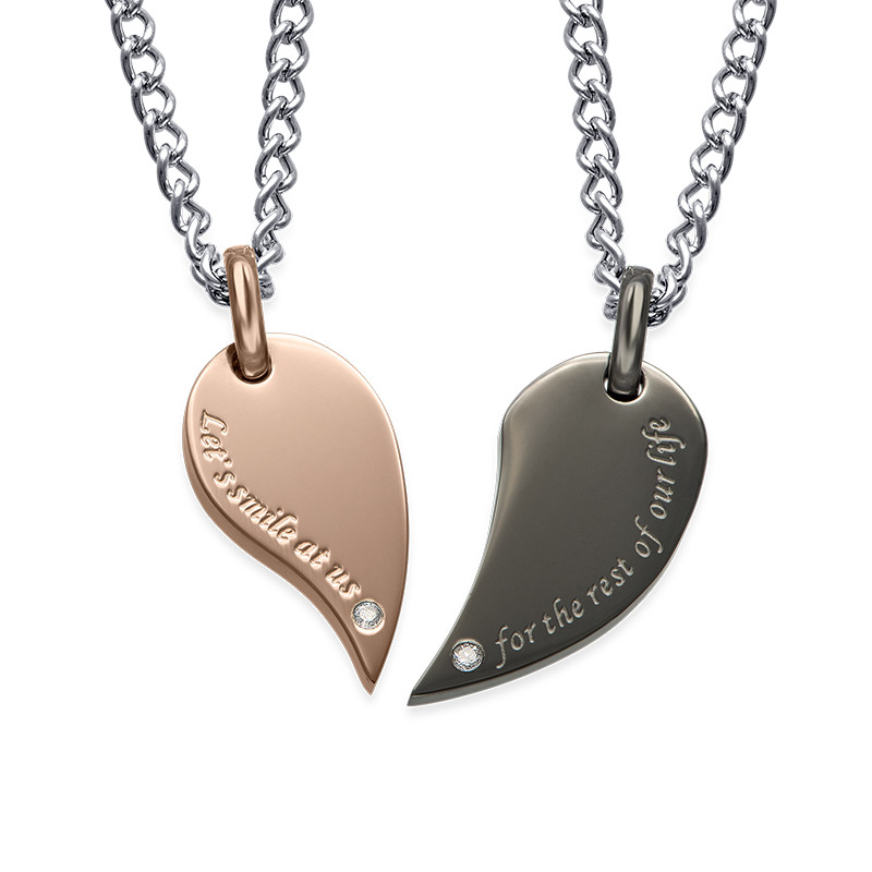 2-teiliges Herzketten-Set für Paare