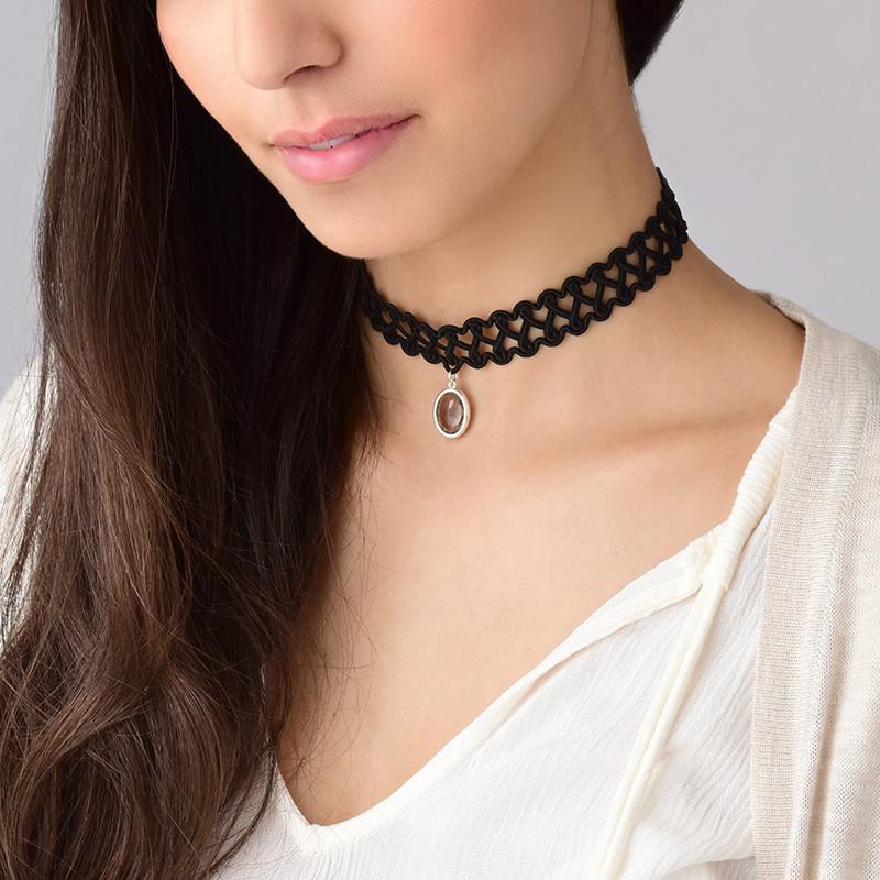 Tattoo Halsband-Kette mit persönlichen Stein - 3