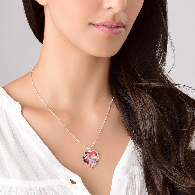 Herzförmige Foto Halskette aus Sterling Silber - 4