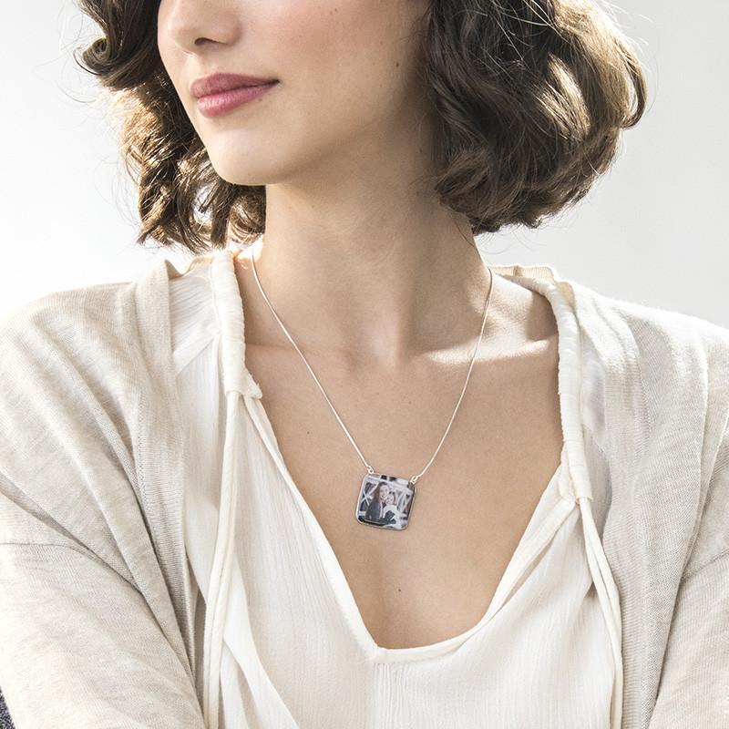 Personlisierbare Foto-Halskette - quadratisch - 2