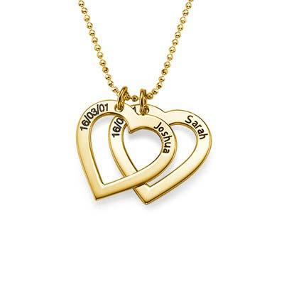 750er Vergoldete  Herzkette mit Gravur - 1