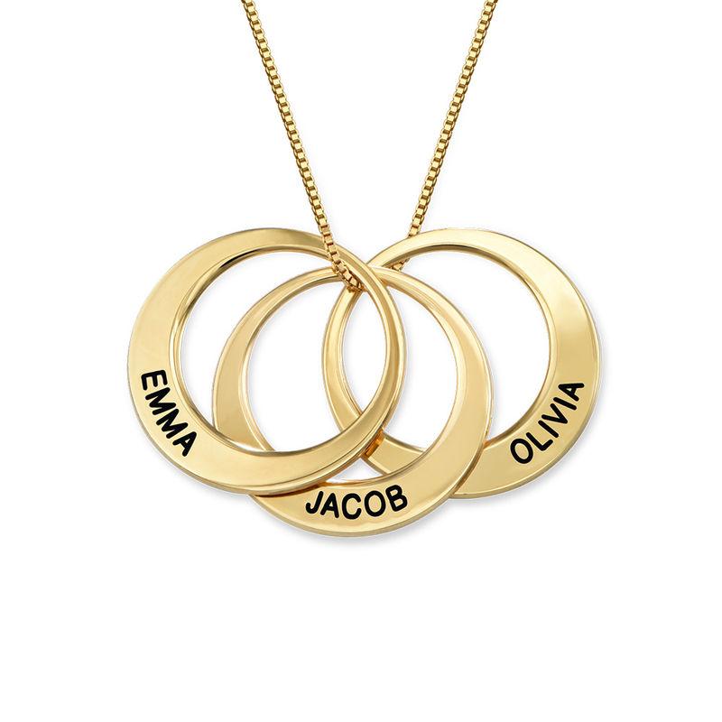 Multiple Ringkette mit Vergoldung
