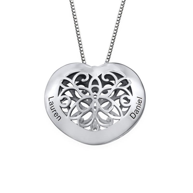 Herzkette mit Gravur aus Silber