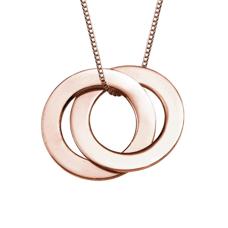 Ring Halskette - rosévergoldet