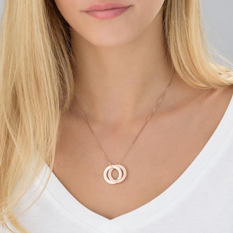 Ring Halskette - rosévergoldet - 1