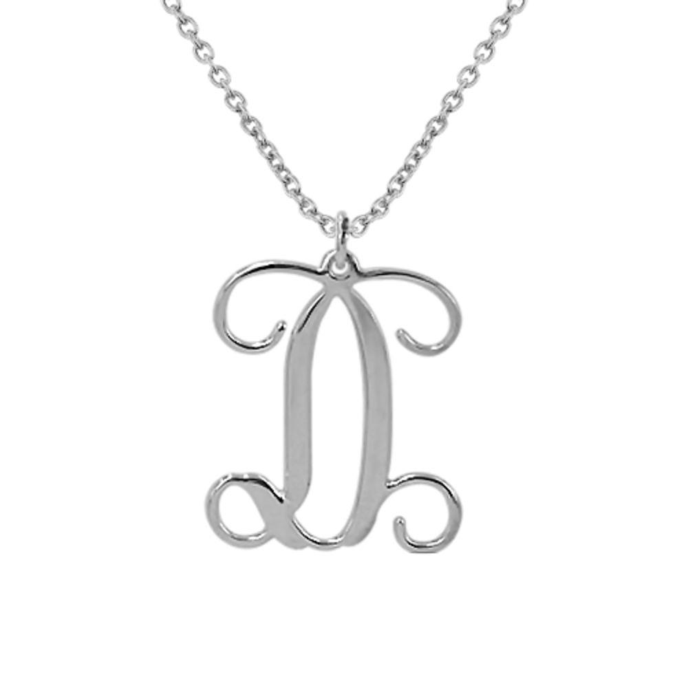 Monogramm Silberkette mit Initialen - 1