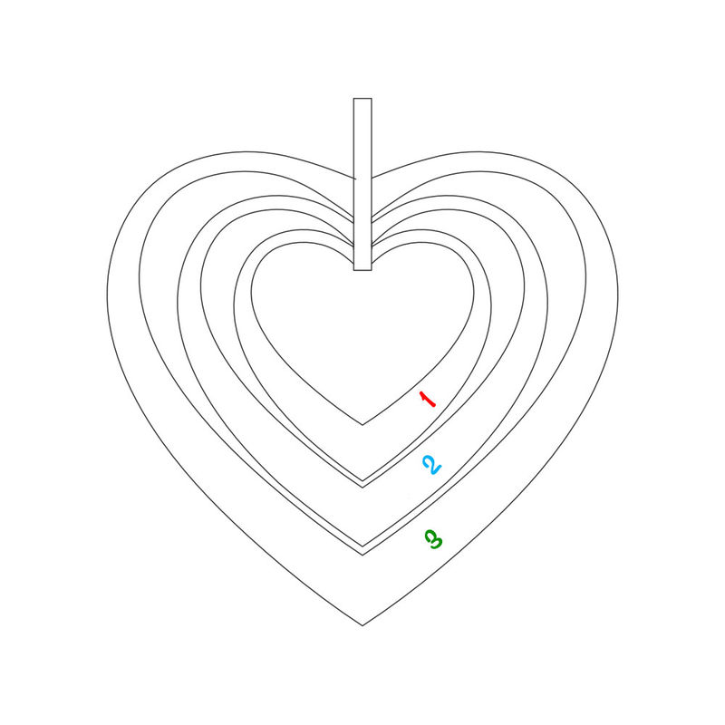 Familienkette mit Herz mit Rosévergoldung - 7