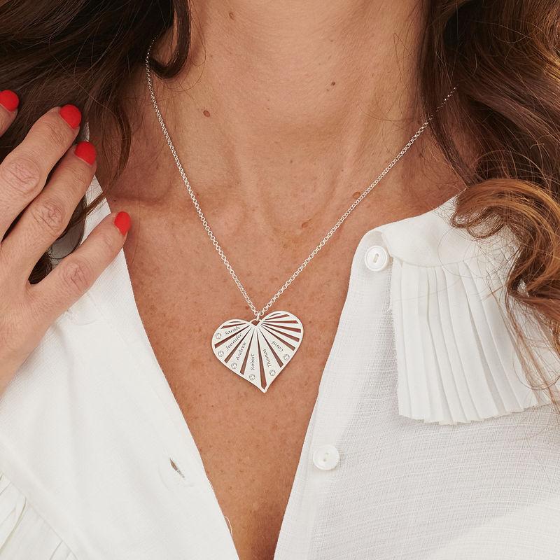 Familienkette mit Diamanten aus Sterlingsilber - 2