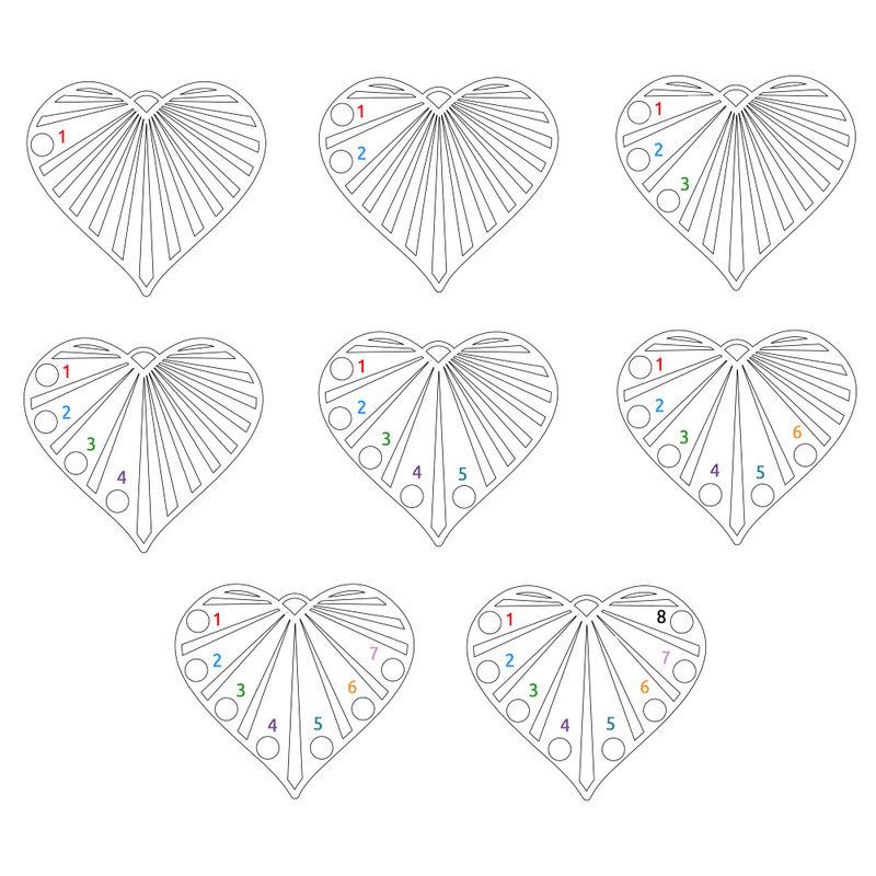 Familienkette mit Diamanten aus Sterlingsilber - 5