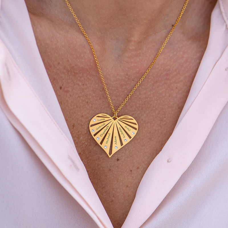 Familienkette mit Diamanten und Vergoldung - 3