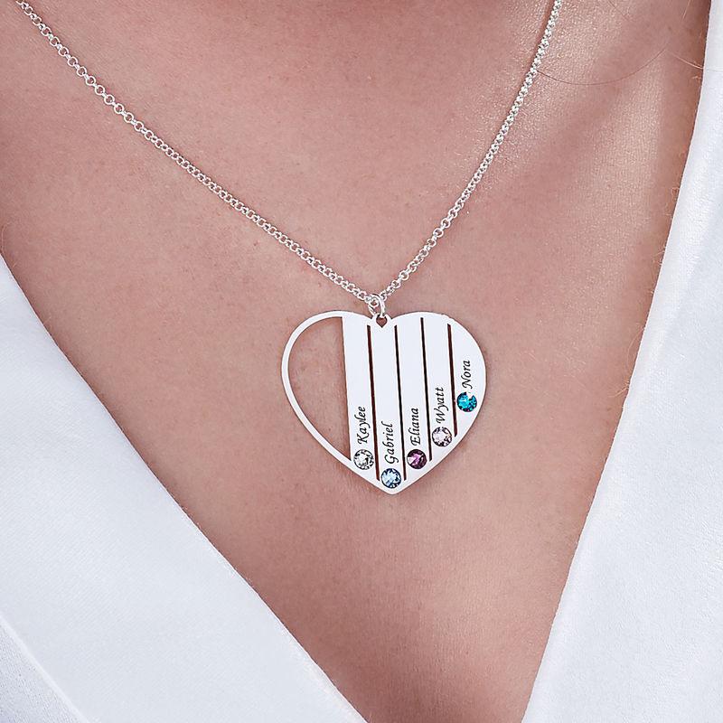 Geburtssteinkette für Mama aus Sterlingsilber - 5