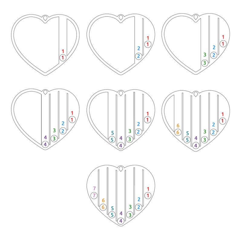 Geburtssteinkette für Mama aus Sterlingsilber - 7