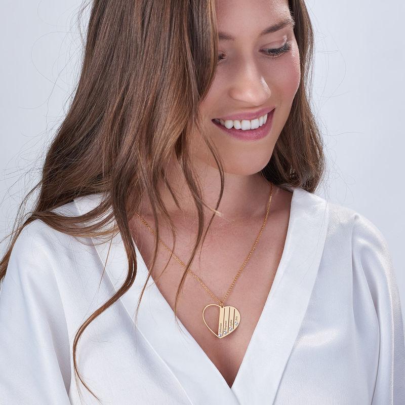 Geburtsstein-Halskette in Gold-Vermeil für Mutter - 4
