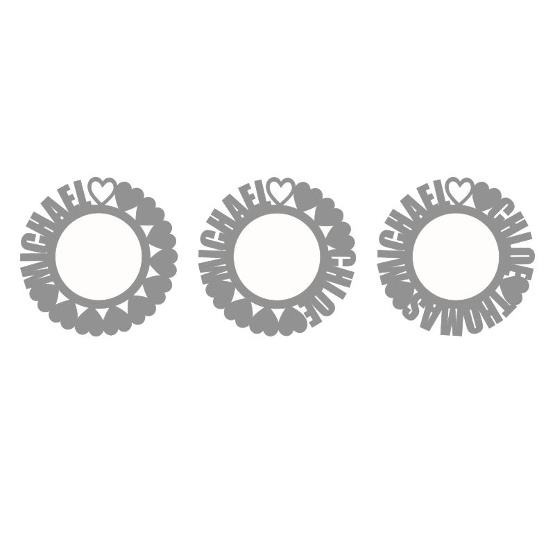 Namenskette mit rundem Anhänger aus Sterlingsilber - 3