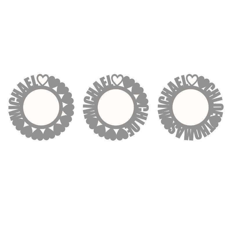 Namenskette mit rundem Anhänger und Vergoldung - 3