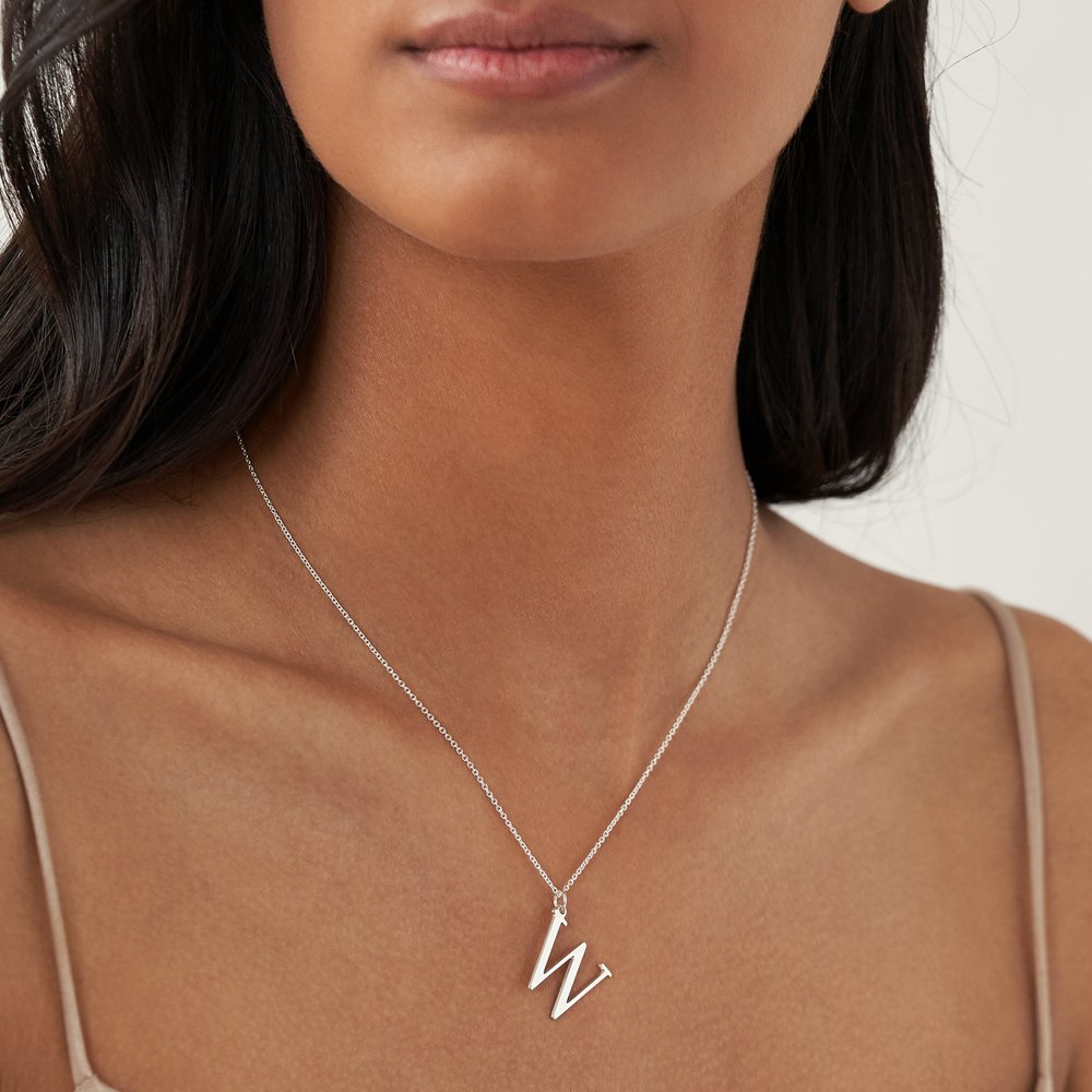 925er Silber Buchstabenkette - 2