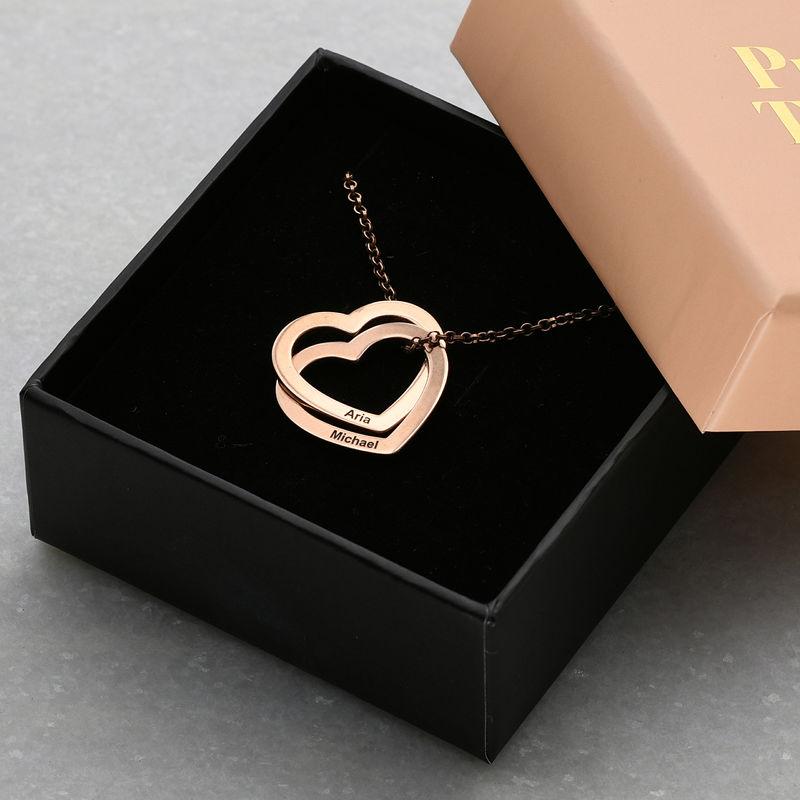 Verschlungene Herzkette mit 750er Rosévergoldung - 5