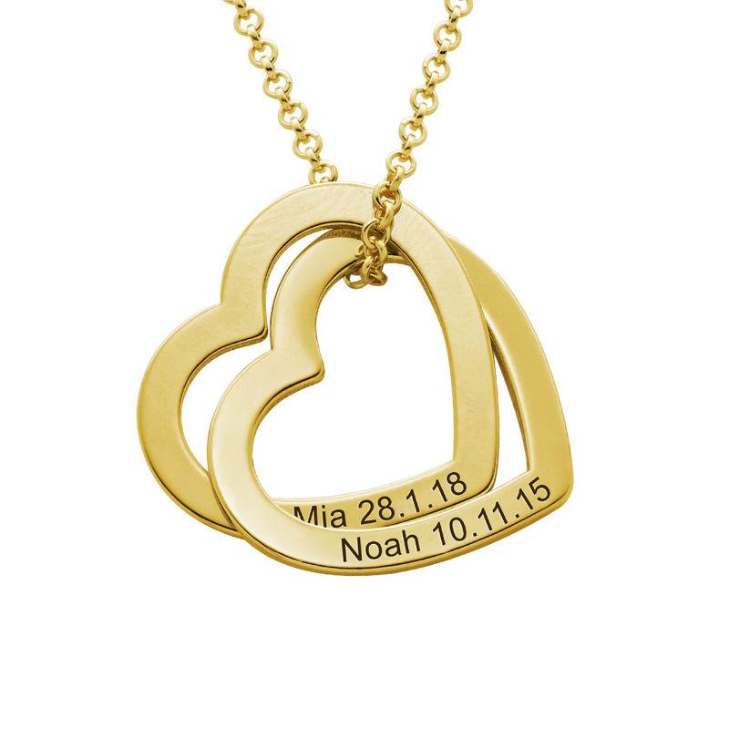 Verschlungene Herzkette aus 750er-Gold-Vermeil