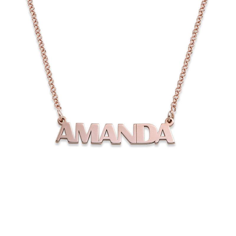 Namenskette mit Großbuchstaben mit 750er Rosévergoldung