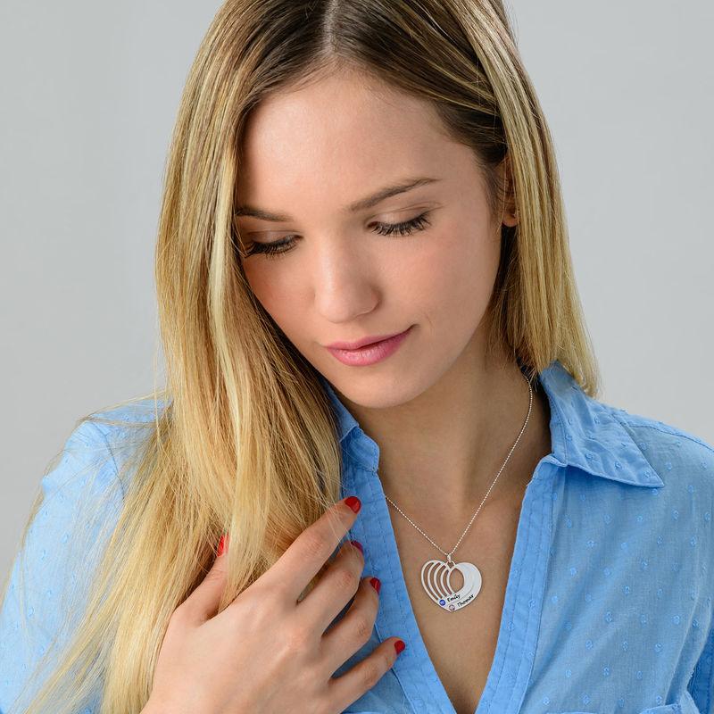 Silberne Herzkette mit Gravur - 2