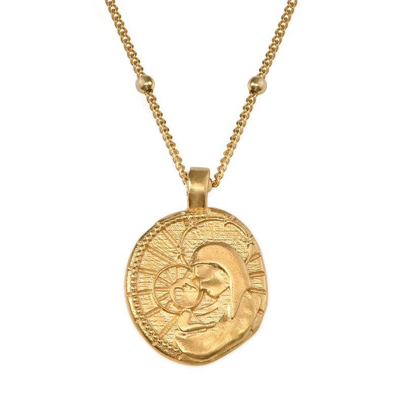 Vergoldete Jesus-Christus und Maria-Münzkette