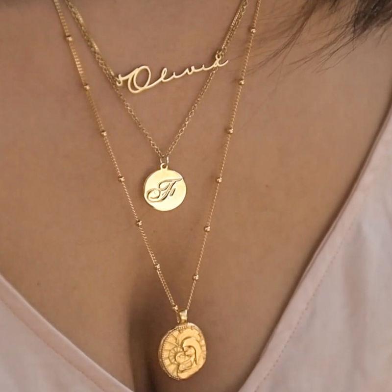 Vergoldete Jesus-Christus und Maria-Münzkette - 3