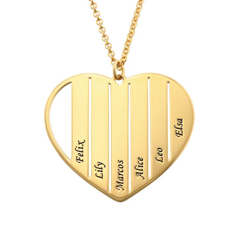 Mama-Kette mit Herz und Gold-Beschichtung