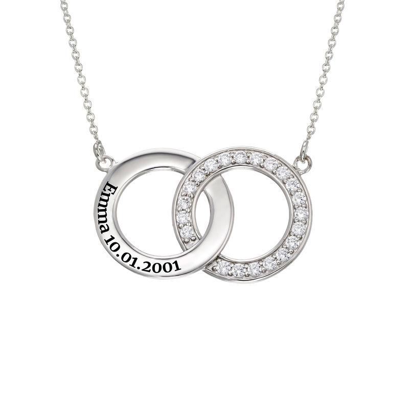 Interlocking Circle Halskette aus Sterlingsilber - 2