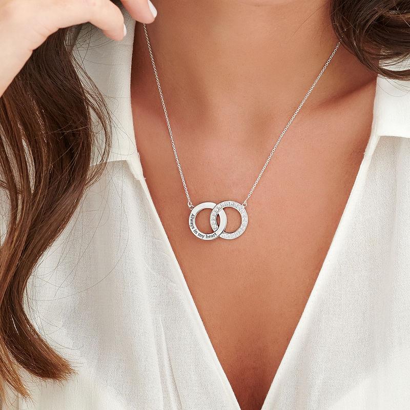 Interlocking Circle Halskette aus Sterlingsilber - 4