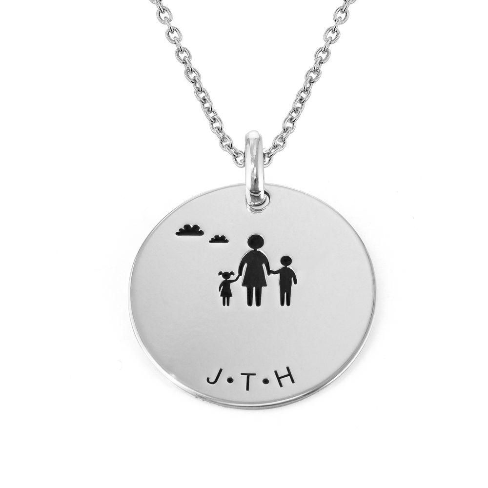 Familien Halskette für Mama in Sterling Silber - 2