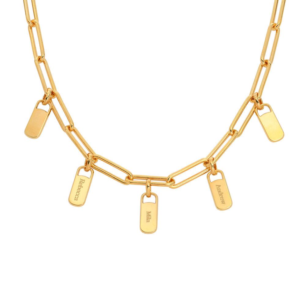 Emilia Glieder Halskette mit Anhänger aus 750er vergoldetem 925er Silber
