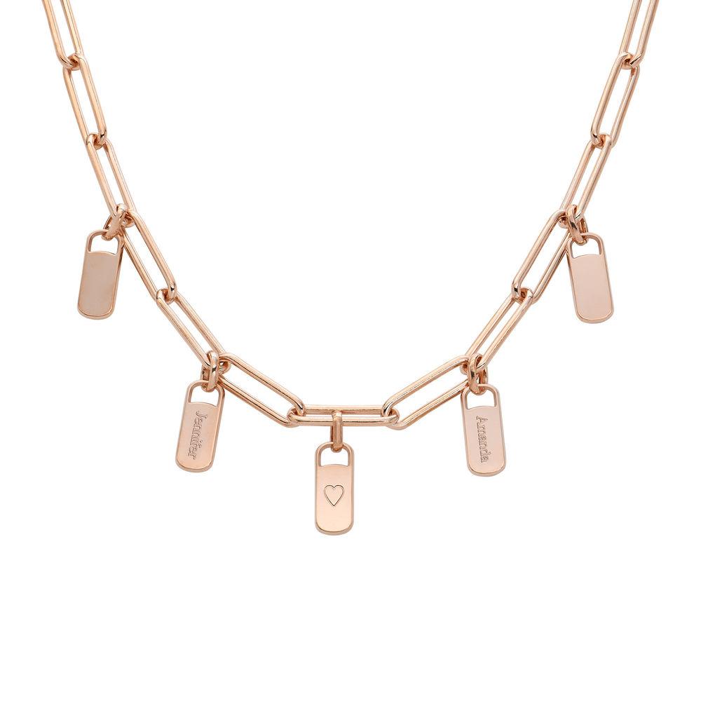Emilia Glieder Halskette mit Anhänger aus Rosévergoldetes 925er Sterling Silber