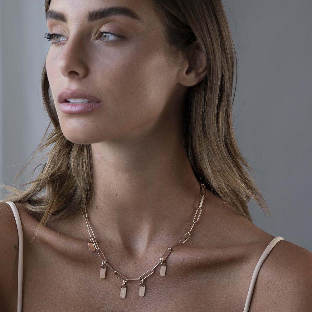 Emilia Glieder Halskette mit Anhänger aus Rosévergoldetes 925er Sterling Silber - 1
