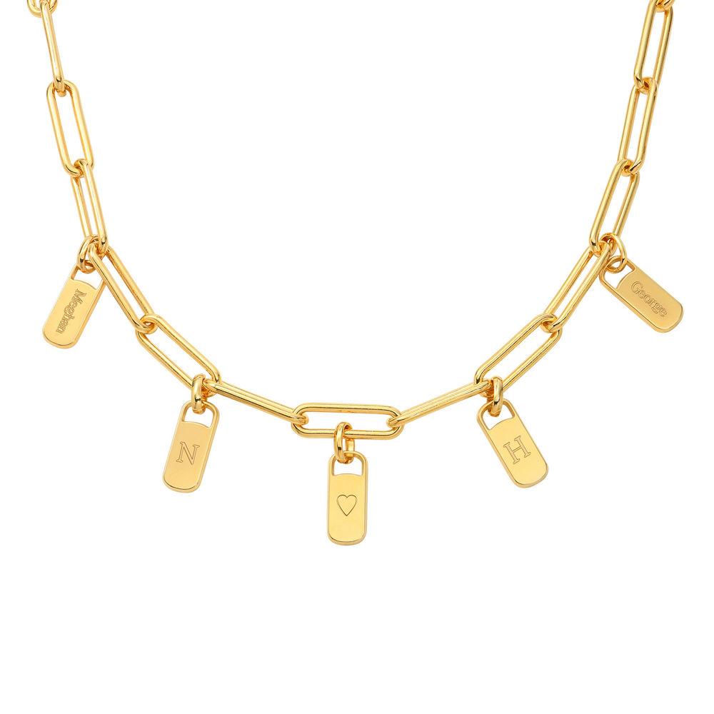 Emilia Glieder Halskette mit Anhänger aus 750er Gold-Vermeil