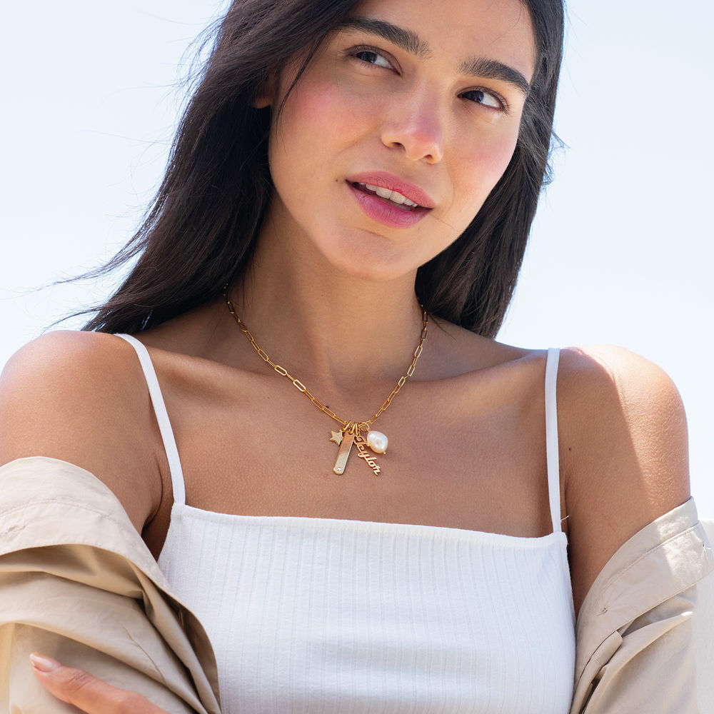 Siena Barrenketten Halskette in Vergoldung - 3