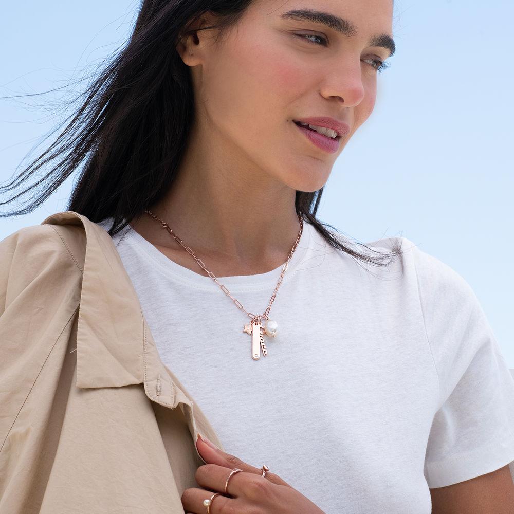 Siena Barrenketten Halskette in Roségold Beschichtung - 2