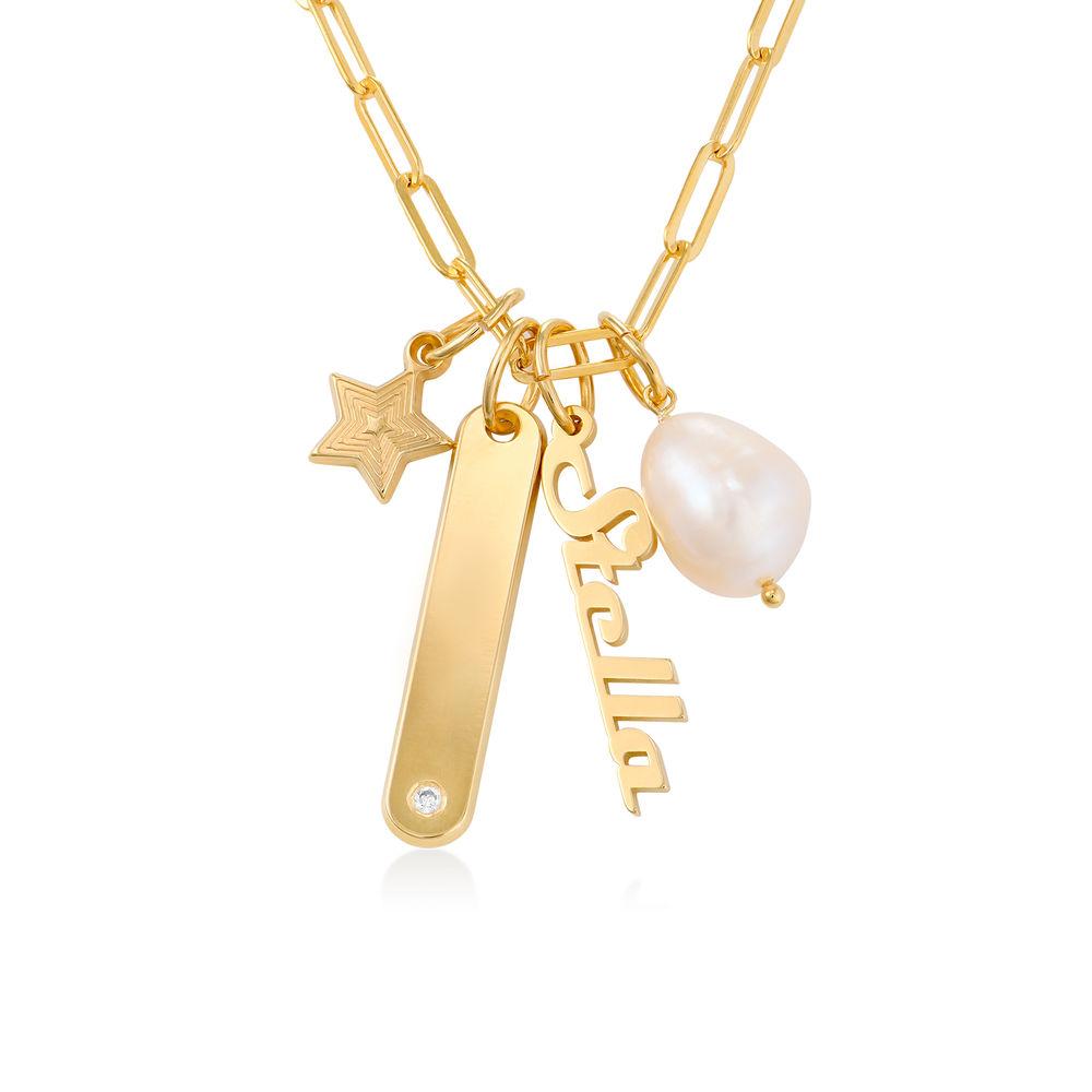 Siena Barrenketten Halskette in Gold-Vermeil - 1