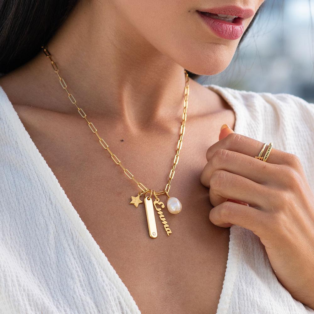 Siena Barrenketten Halskette in Gold-Vermeil - 3