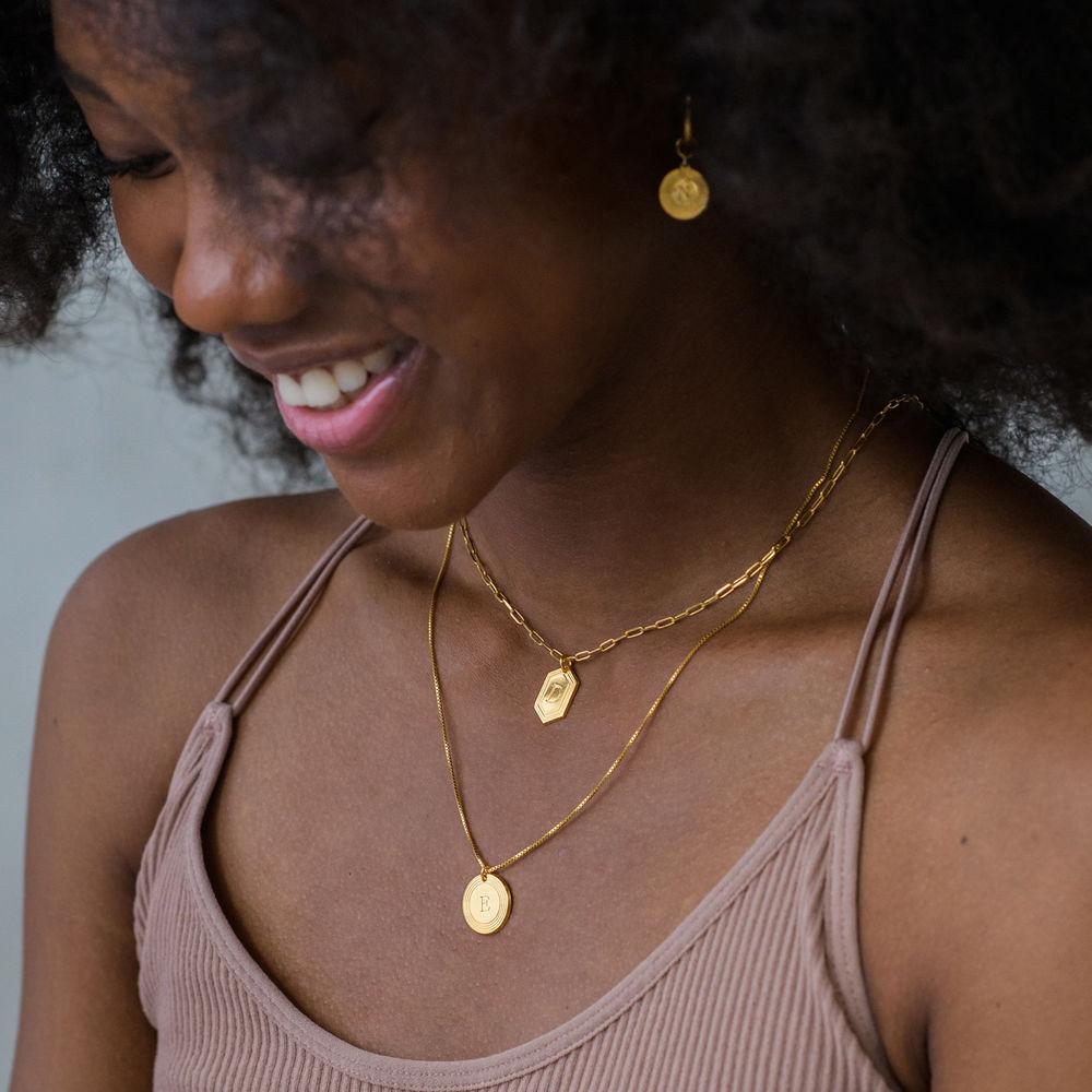 Cupola Glieder-Halskette mit Vergoldung - 2