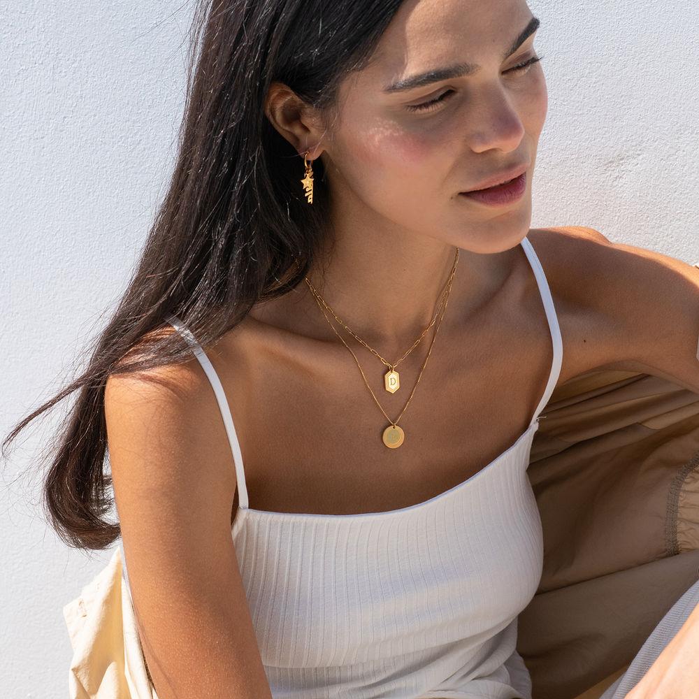 Cupola Glieder-Halskette mit Vergoldung - 3