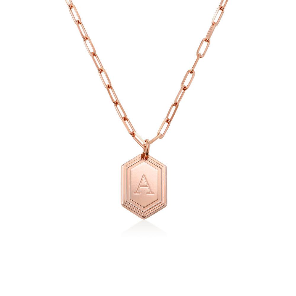 Cupola Glieder-Halskette mit Rosévergoldung