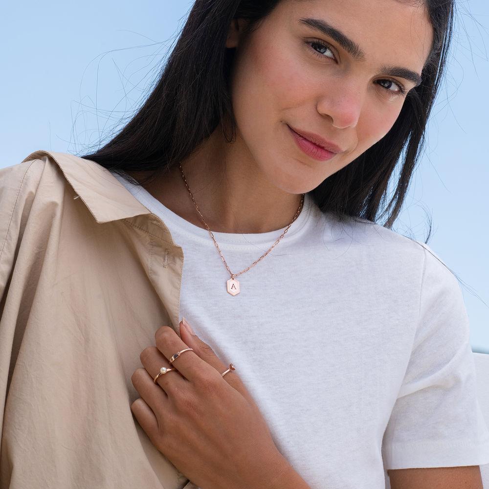 Cupola Glieder-Halskette mit Rosévergoldung - 2