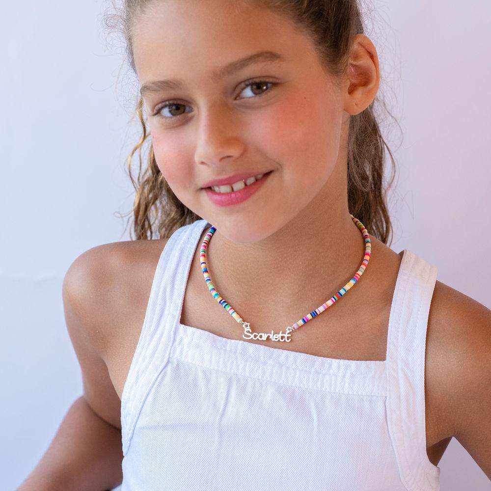 Regenbogenkette aus Sterling Silber für Mädchen - 3