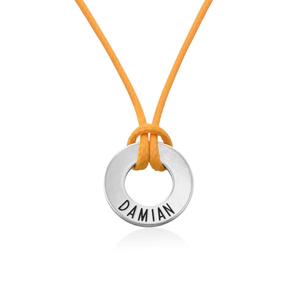 ID Wax Cord Halskette in Sterling Silber für Jungen - 2
