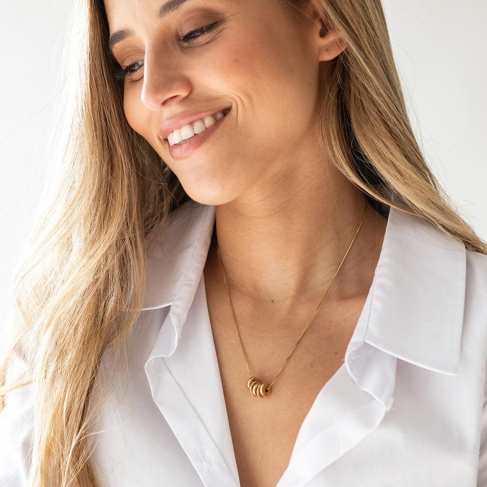Gravierte Beadkette in Gold-Vermeil - 2